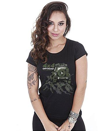 Camiseta Baby Look Feminina Off Road T6 Limitless