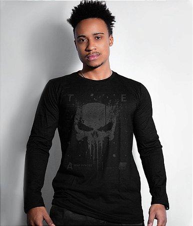 Camiseta Manga Longa New Punisher Dark Line