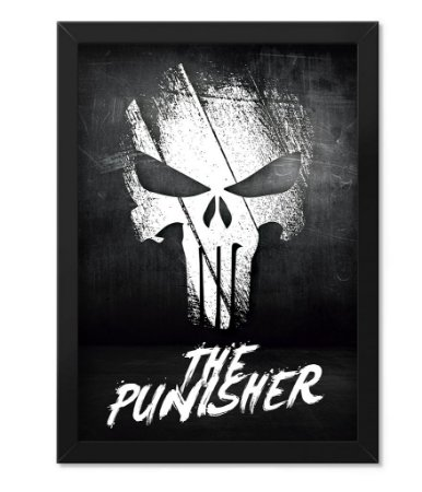 Poster com Moldura Militar The Punisher