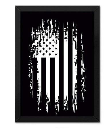 Poster com Moldura Militar EUA Defence