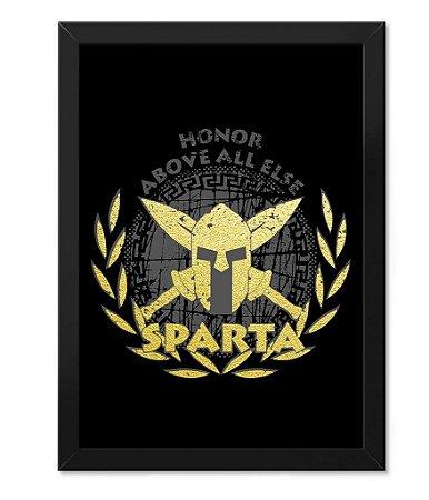Poster com Moldura Militar Honor Above All Else