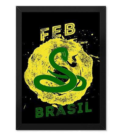 Poster com Moldura Militar FEB Brasil