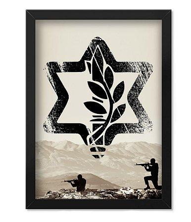 Poster com Moldura Militar Israel Defense