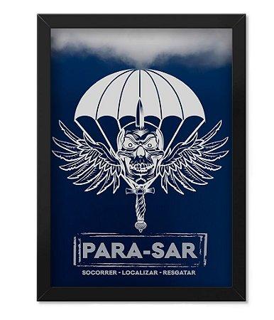 Poster com Moldura Militar PARA-SAR