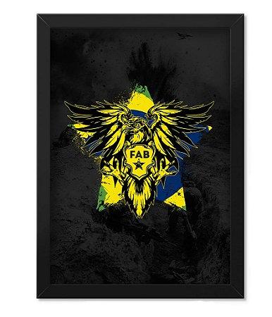 Poster com Moldura Militar FAB