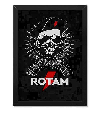 Poster com Moldura Militar Rotam