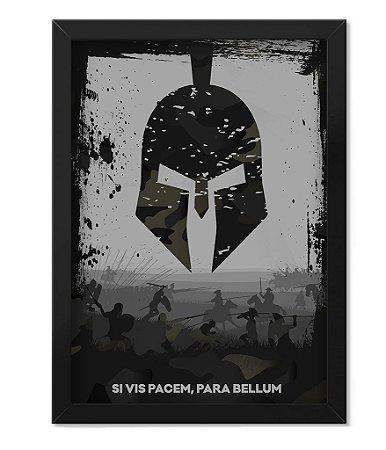 Poster com Moldura Militar Si Vis Pacem Para Bellum