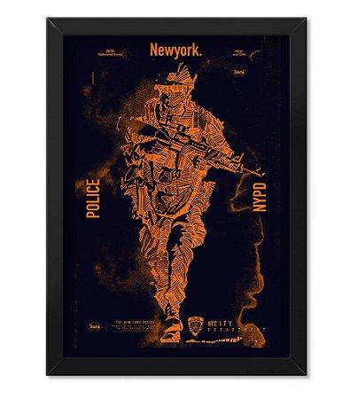 Poster com Moldura Militar New Police