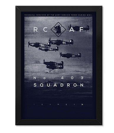 Poster com Moldura Militar RCAF