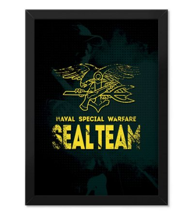 Poster com Moldura Militar Seal Team Warfare