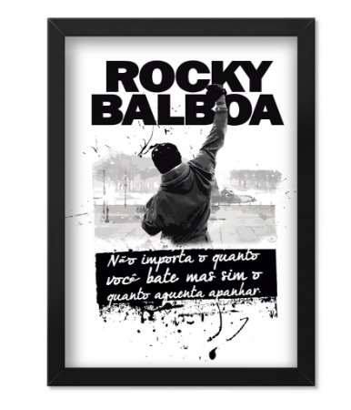 Poster com Moldura Militar Rocky Balboa