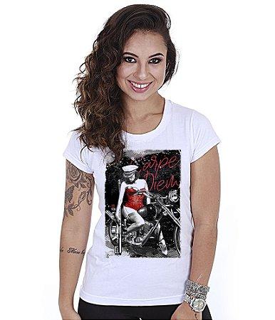 Camiseta Baby Look Feminina Squad T6 GUFZ6 Carpe Diem