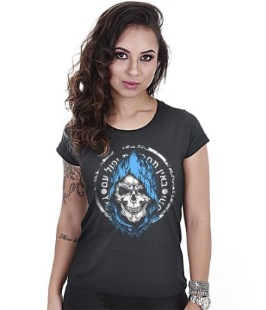 Camiseta Baby Look Feminina Squad T6 GUFZ6 Mossad Força Especial