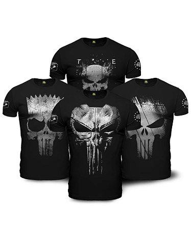 Kit Justiceiro 4 Camisetas Militares