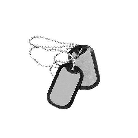Plaqueta de Identificação Dog Tag Militar Lisa Sem Gravação
