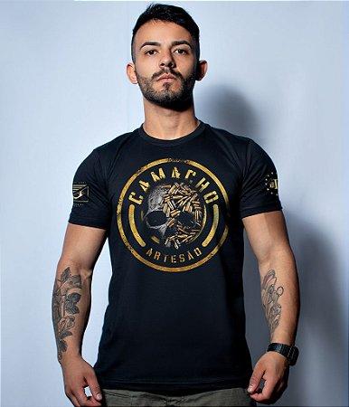 Camiseta Militar Squad T6 Camacho Artesão Skull Ammunition