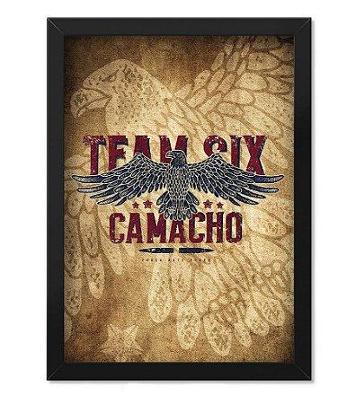 Poster com Moldura Squad T6 Camacho Artesão Eagle Team Six Collection