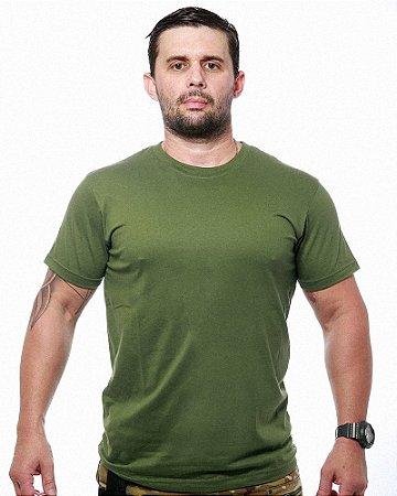 Camiseta Militar Básica Lisa Verde Team Six