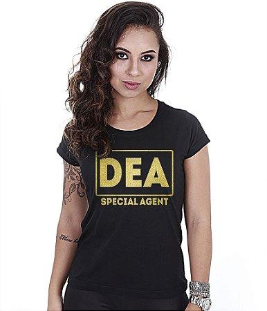 Camiseta Militar Baby Look Feminina DEA Gold Line