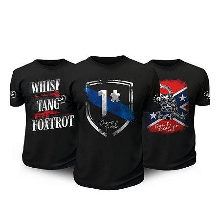 Kit 3 Camisetas Militares One Ass To Risk Tactical Fritz Team Six