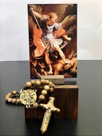 Combo - Terço + Ícone de São Miguel Arcanjo
