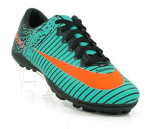 22b5d6f83c Chuteira Society Nike Mercurial Vortex 3 Rosa e Amarelo Limão ...