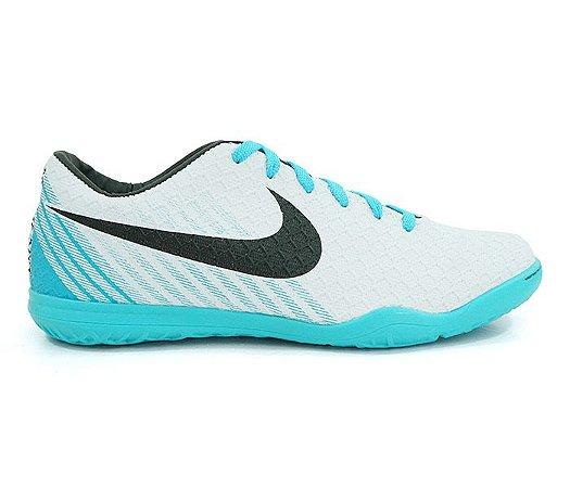 fa65cff7b Chuteira Futsal Nike Magista Branco e Azul Bebê - expresso shopping