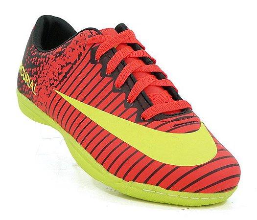 64540deb162bf Chuteira Futsal Nike Mercurial Vortex 3 Rosa e Amarelo Limão ...
