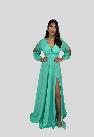 Vestido Longo Jade Nana Marie Vestido de Festa Verde Mint
