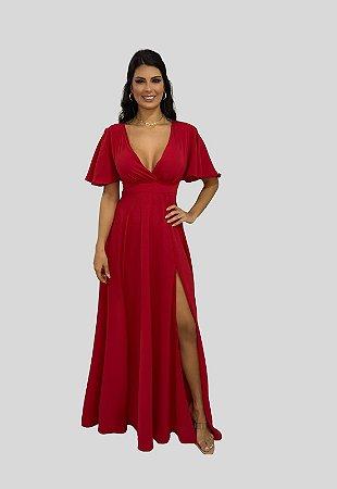 Vestido de Festa Longo Luisa Nana Marie Vermelho