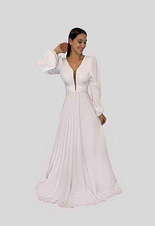 Vestido Longo Branco Suzane