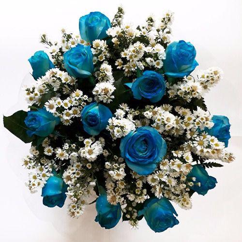 Bouquet de Rosas Azuis