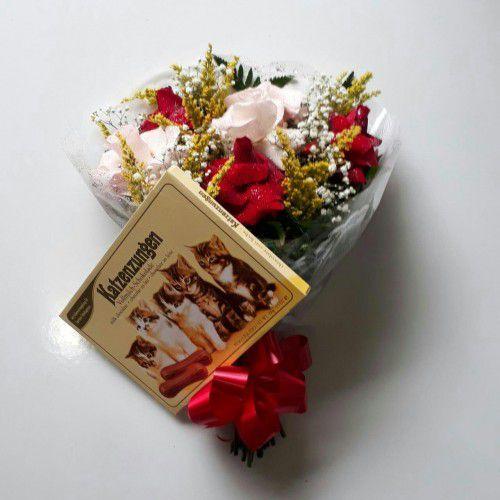 Bouquet de Rosas Selecionadas 06 unds + Chocolate