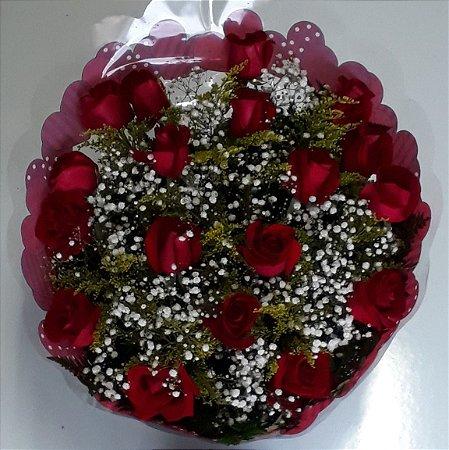 Bouquet de Rosas Vermelhas ou Coloridas com 15 unds.