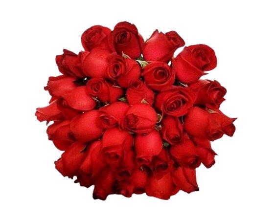 Bouquet Unique de Rosas Vermelho ou Colorido com 36 unds.