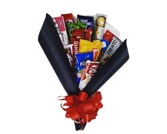 Buquê de Chocolate Com ou Sem Rosas