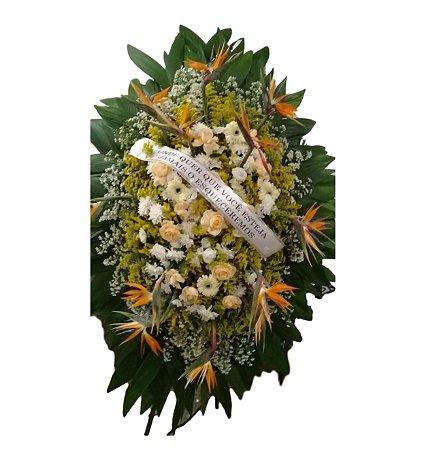 Coroa de Flores Com Strelícias