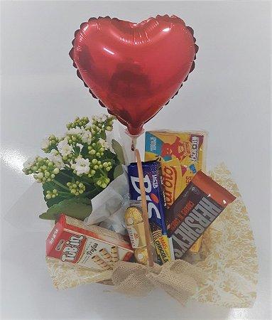 Cesta de Chocolate com Balão