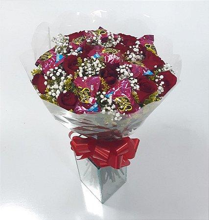 Buquê de Chocolate com Rosas Cacau