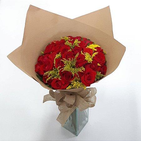 Buquê de Rosas Vermelhas e Tango Artesanal