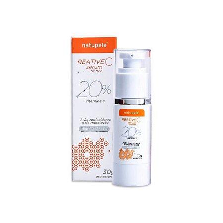 Vitamina C 20% Reative C Sérum Para o Rosto Oil Free Natupele 30g
