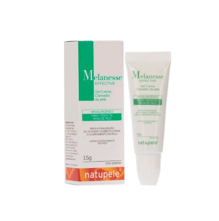 Creme Clareador Facial gel Melanesse Effective Natupele 15g