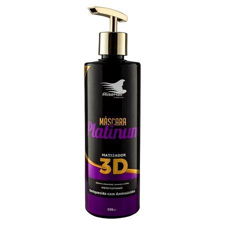 Matizador Platinum 3D Efeito Platinado Alise Hair 500ml