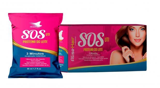 Reconstrutor Capilar SOS Antiemborrachamento Alise Hair - Kit 24 Sachês 50ml
