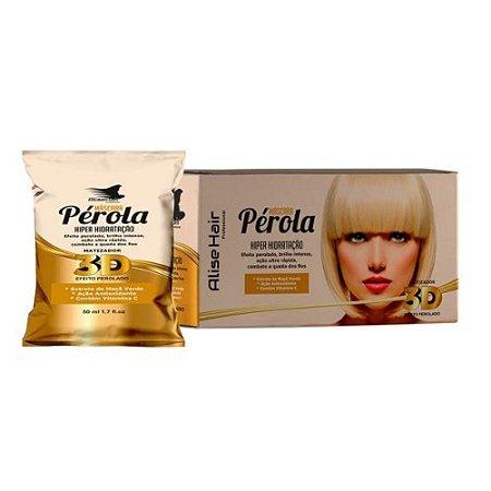 Matizador Pérola 3D Alise Hair Efeito Perolado - Kit 24 Sachês 50ml