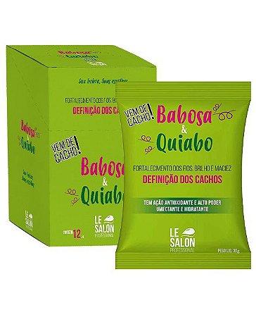 Máscara Babosa e Quiabo hidratação Profunda Le Salon - Kit 12 Sachês 30g