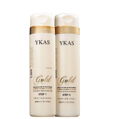 Escova Progressiva Liss Treatment Ouro Ykas Kit 2X300ml