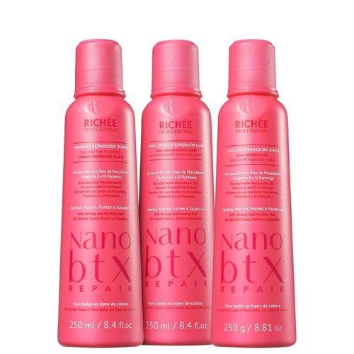 Kit Richée Professional Nano Botox Repair Tratamento Diário (3 Produtos)