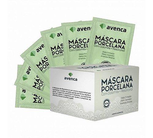 Máscara Facial Porcelana Efeito Clareador Avenca Cosméticos Kit 50 Sachês 10g