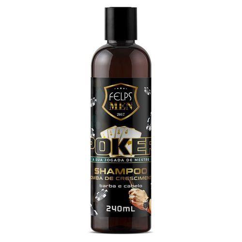 Shampoo Multifuncional Felps Men Poker Bomba de Crescimento 240ml
